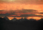Olympic Peaks Golden Sunset